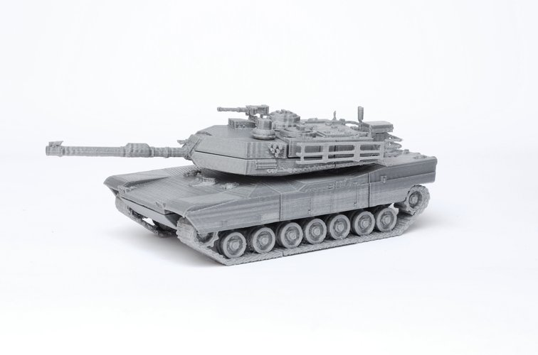 M1 Abrams Tank Model Kit - 25 body parts 3D Print 42462