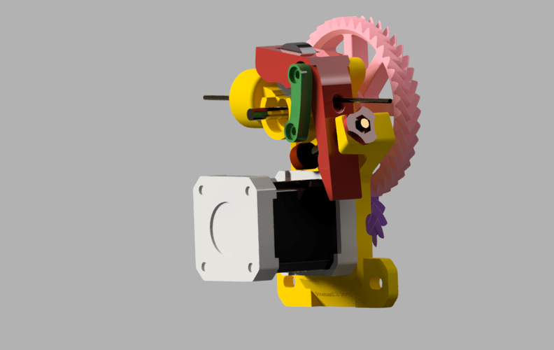 Geared extruder v.3 3D Print 42477