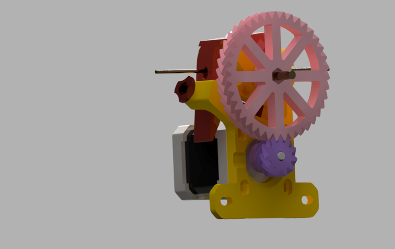 Geared extruder v.3 3D Print 42478