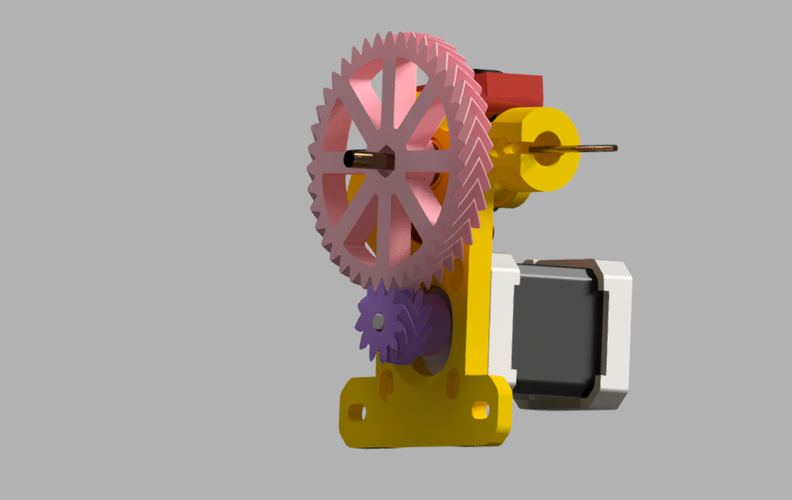 Geared extruder v.3 3D Print 42479
