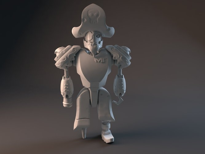 Pirate Robot 3D Print 42505