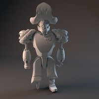 Small Pirate Robot 3D Printing 42505