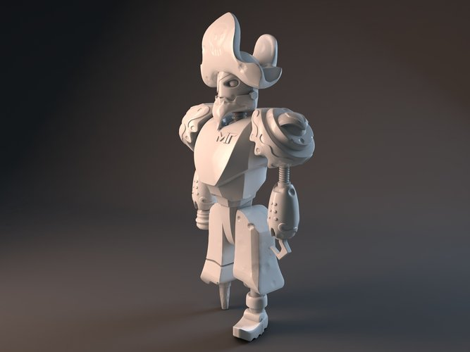 Pirate Robot 3D Print 42506