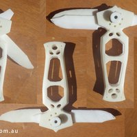 Small Twin Blade 360 Utility Knife 3D Printing 42604