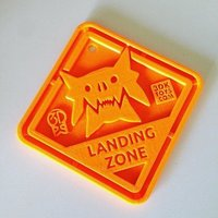 Small #QuinSaga: Monster Landing Zone Plaque - via 3DKToys.com 3D Printing 42648