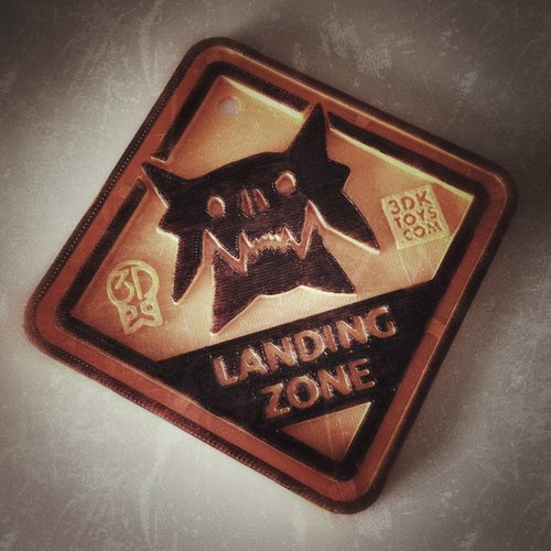 #QuinSaga: Monster Landing Zone Plaque - via 3DKToys.com 3D Print 42649