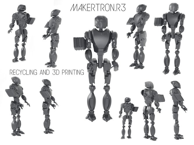 MAKERTRON.R3 he is really a maker. A 3d maker!  3D Print 42730