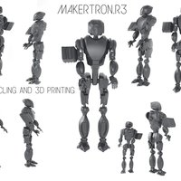 Small MAKERTRON.R3 he is really a maker. A 3d maker!  3D Printing 42730