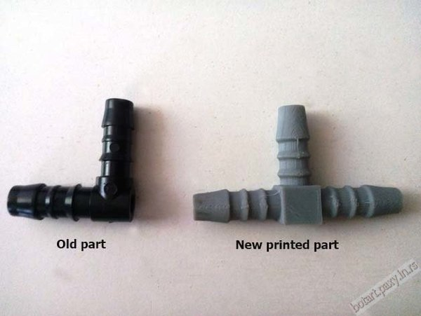 Medium Chevrolet Daewoo air T joint replacement part 3D Printing 42739