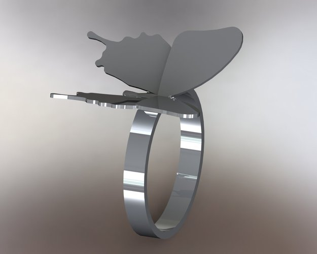 Butterfly Ring - US size #9 3D Print 42826