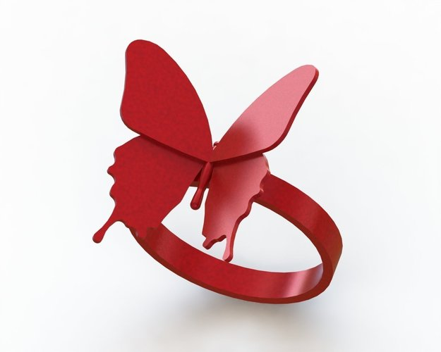 Butterfly Ring - US size #9 3D Print 42827