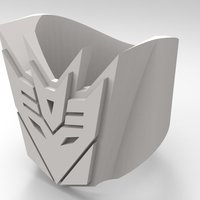 Small Decepticon Ring - US size #9 3D Printing 42828