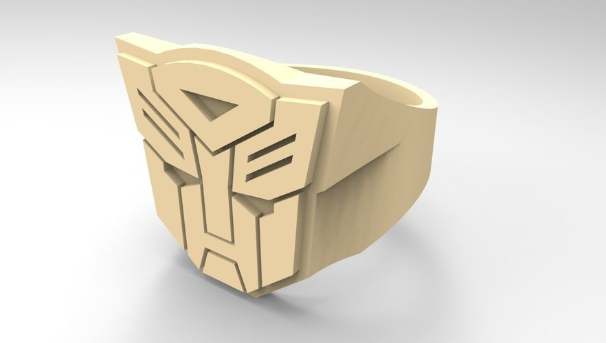 Autobot ring - US size #6 3D Print 42830