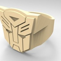 Small Autobot ring - US size #6 3D Printing 42830