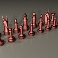 Small chess/ajedrez 3D Printing 43170