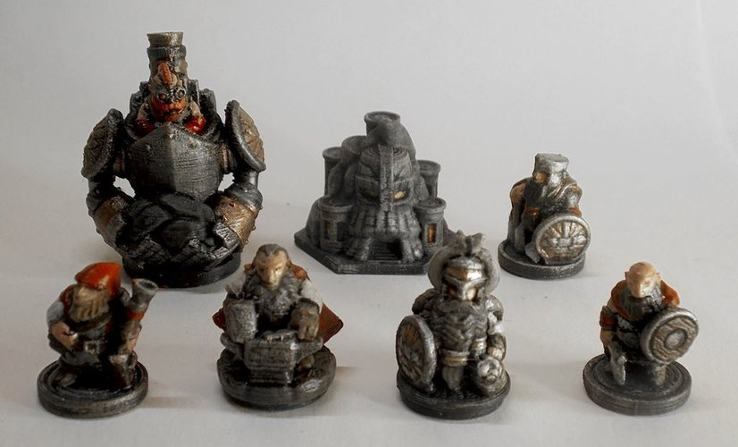 Dwarves army (15mm) 3D Print 43181