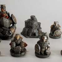 Small Dwarves army (15mm) 3D Printing 43181
