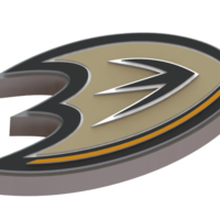 Small Anaheim Ducks logo 3D Printing 43223