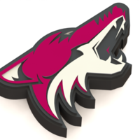 Small Arizona Coyotes logo 3D Printing 43225