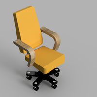 Small Resinsoul BJD Doll Chair 3D Printing 43363