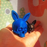 Small Skull Bunnyears :D 3D Printing 43364