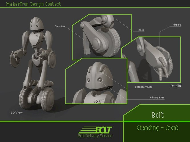 Bolt Delivery Service 3D Print 43420