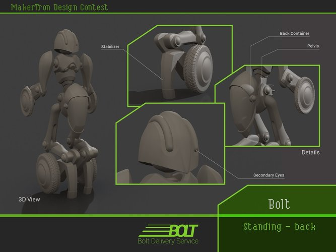 Bolt Delivery Service 3D Print 43421