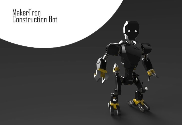 MakerTron : Construction Bot 3D Print 43425