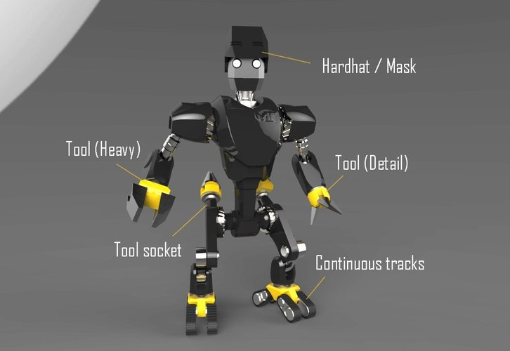 MakerTron : Construction Bot 3D Print 43427