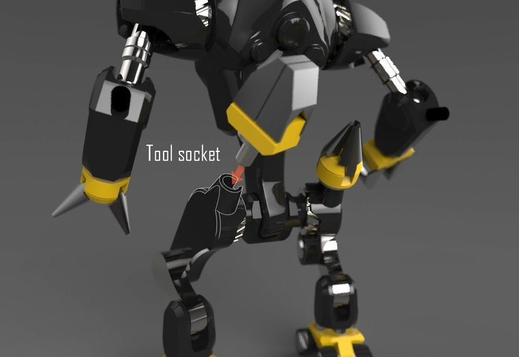 MakerTron : Construction Bot 3D Print 43429