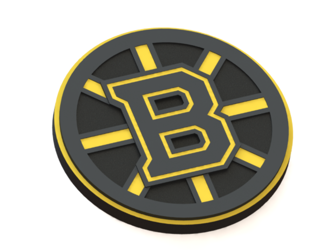 3d printed boston bruins logo by ryard poplavskij pinshape boston bruins logo 3d print 43620 voltagebd Image collections