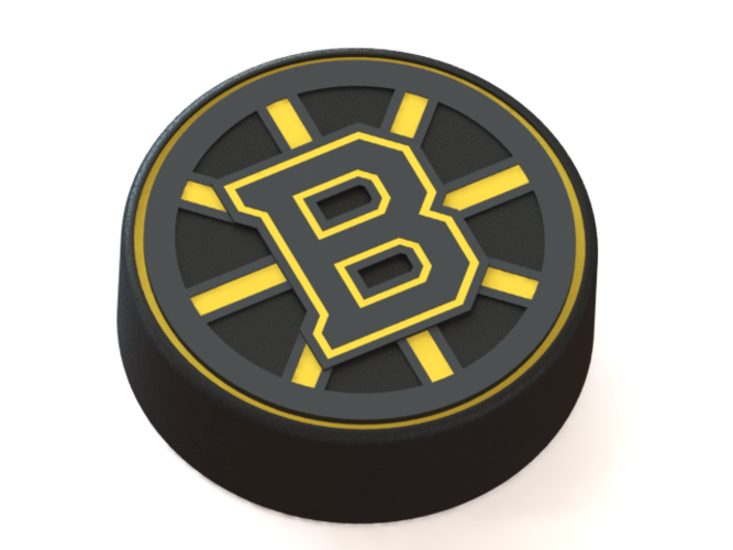 Boston Bruins logo on hockey puck 3D Print 43622