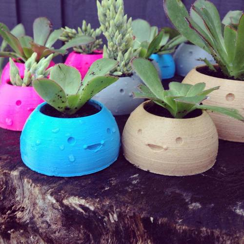 Happy Planters- Small 3D Print 4380