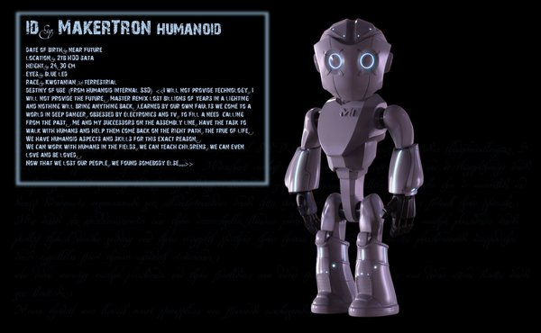 Medium Humanoid Makertron 3D Printing 43814