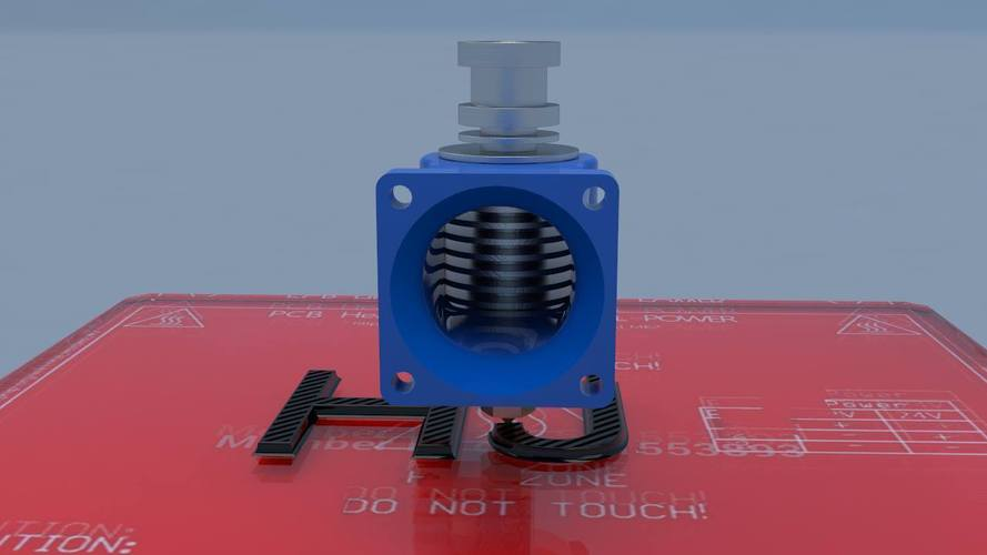 E3D V6 Fan Duct for MendelMax standard X Carriage 3D Print 43928