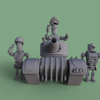 Small MT Support Squad 3D Printing 43996