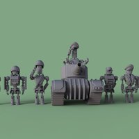 Small MT Support Squad - Tank 3D Printing 44004