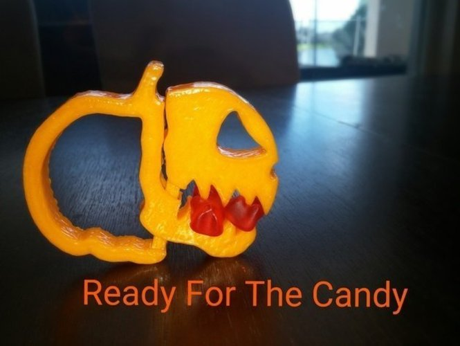 Pumpkin Jack o Lantern Clipz 2, Halloween Ready, Snack Bag Ready 3D Print 44050
