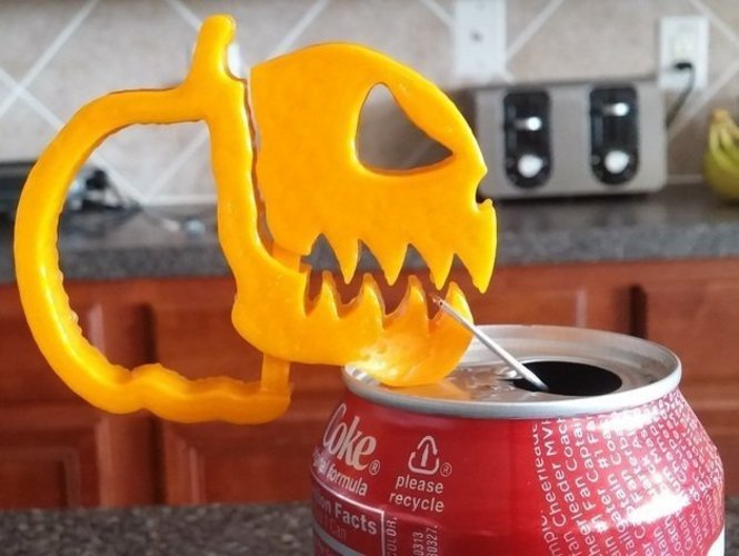 Pumpkin Jack o Lantern Clipz 2, Halloween Ready, Snack Bag Ready 3D Print 44053