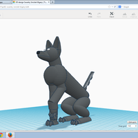 Small Robot doggy 3D Printing 44057