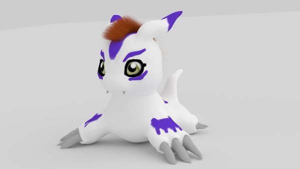 Medium Gomamon 3D Printing 44091