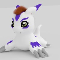 Small Gomamon 3D Printing 44091