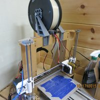 Small Filament Spool Holder V2 3D Printing 44108