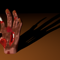 Small zombie hand 3D Printing 44109
