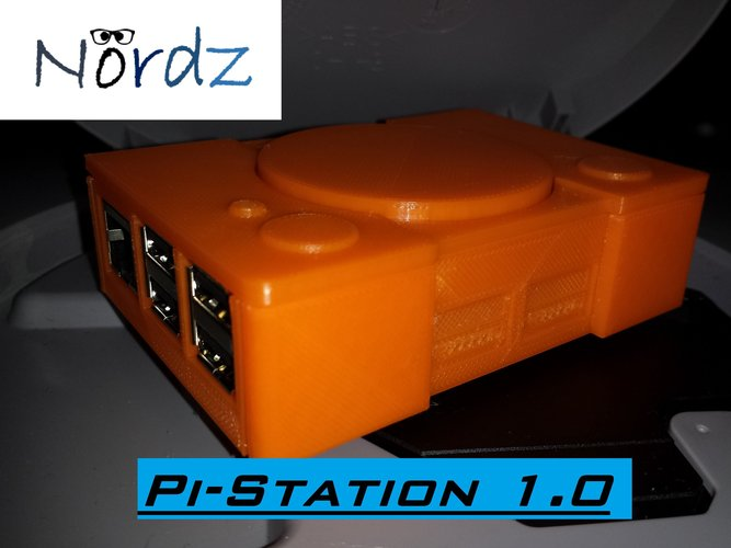 Pi-Station 1 (Raspberry Pi 2 case) 3D Print 44303