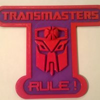 Small Transmasters Rule Sign 3D Printing 44392