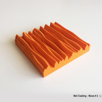 "Small Wall Cladding ""Waves"" #2 3D Printing 44542"