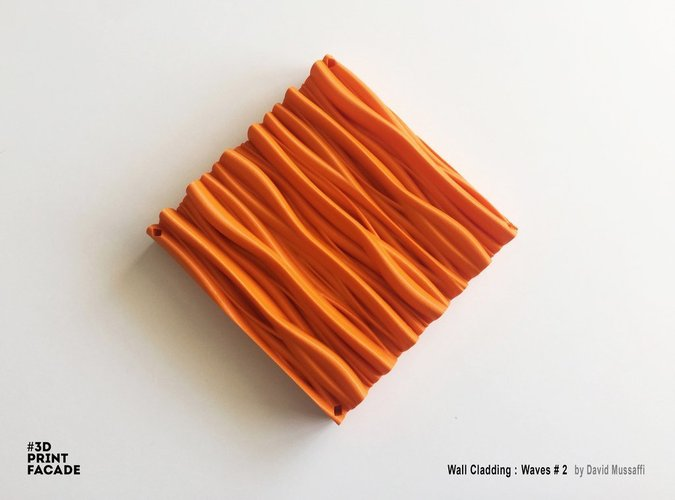 "Wall Cladding ""Waves"" #2 3D Print 44544"