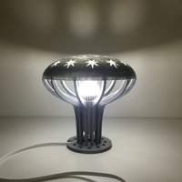 Small Mushroom Led lamp 3D Printing 44626