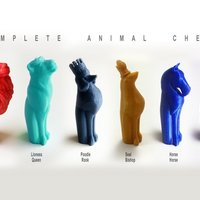 Small Complete Animal Chess 3D Printing 44647